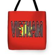 Flag Of Vietnam Word Tote Bag