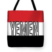 Flag Of The Yemen Word Tote Bag