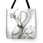 Flamingo In Pearl Necklace Tote Bag