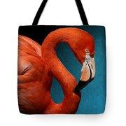 Profile Of An American Flamingo Tote Bag