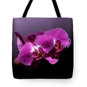 Pink Orchid Flowers Tote Bag