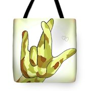Asl I Really Love You Camouflage Tote Bag