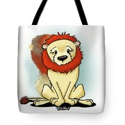 Lion Peaceful Reflection  Tote Bag