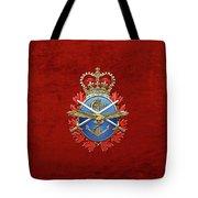 Canadian Armed Forces  -  C A F  Badge Over Red Velvet Tote Bag
