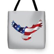 Stars And Striped Eagle Tote Bag