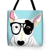 Hipster Bull Terrier Tote Bag