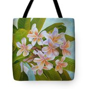 Plumeria Tote Bag by Angeles M Pomata