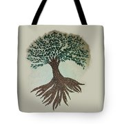 Embroidered Tree Tote Bag