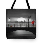 Summer Rain At The Bridge Tote Bag