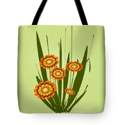 Orange Flowers Tote Bag