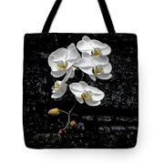 Dew-kissed Cascading Orchids Tote Bag