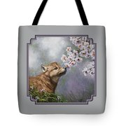 Wolf Pup - Baby Blossoms Tote Bag