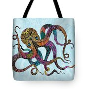 Electric Octopus Tote Bag by Tammy Wetzel