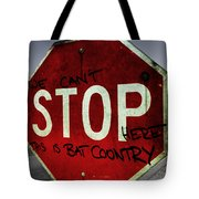This Is Bat Country Tote Bag