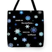Snowflakes 4 Tote Bag