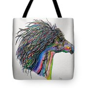 Racing The Wind ... A Story Painting Tote Bag