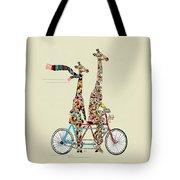 Giraffe Days Lets Tandem Tote Bag