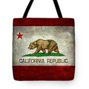 California Republic State Flag Retro Style Tote Bag