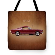 Ford Mustang Fastback 1965 Tote Bag