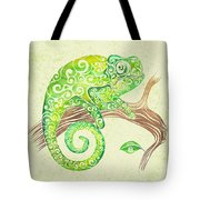 Swirly Chameleon Tote Bag