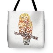 Swirly Owl Tote Bag