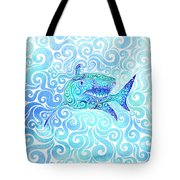 Swirly Shark Tote Bag