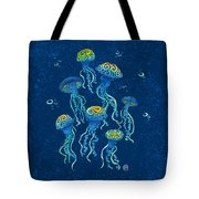 Swirly Jellyfish Tote Bag