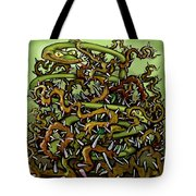 Serpent N Thorns Tote Bag
