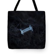 Snowflake Photo - Capped Column Tote Bag