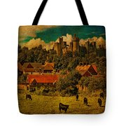 Arundel Castle With Cows Tote Bag