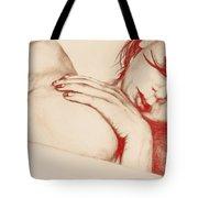 As Heaven Awaits - Red Tote Bag