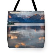 As The Day Ends At West Glacier Tote Bag