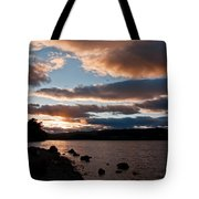 As The Sun Sets Over Loch Rannoch Tote Bag