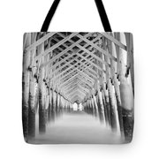 As The Water Fades Grayscale Tote Bag