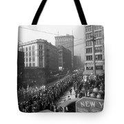 Asahel Curtis, 1874-1941, Draft Parade, Seattle Tote Bag