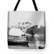 Asahel Curtis, 1874-1941, Launching Of The Minnie A. Cain Tote Bag