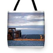 Ashland Ore Dock At Sunset Tote Bag