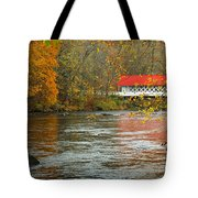 Ashuelot Bridge Tote Bag by Jon Holiday