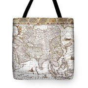 Asia: Map, C1618 Tote Bag