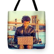 Asian American College Student Traveling, Studying In New York Tote Bag
