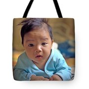 Asian Baby Tote Bag by Atul Daimari
