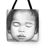 Asian Baby Tote Bag