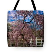 Asian Cherry In Blossom Tote Bag
