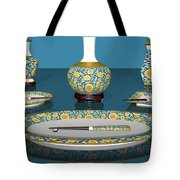 Asian Dining And Vases Tote Bag