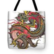 Asian Dragon Tote Bag by Maria Arango