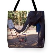 Asian Elephant Painting Picture Tote Bag