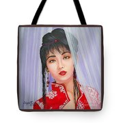 Amenable Japanese  Girl.              From  The Attitude Girls  Tote Bag
