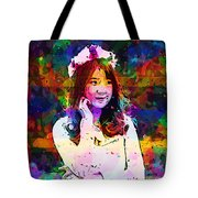 Asian Girl With Crown  Tote Bag