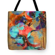 Asian Orchid Abstract Tote Bag