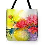 Asian Peonies Tote Bag